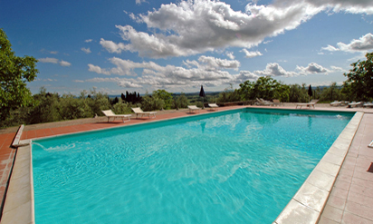 Villas in Tuscany with pool :: Villa Catignano swimming pool