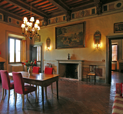 Quinto Settano vacation apartment in a Tuscan villa :: Siena Villa rental Catignano